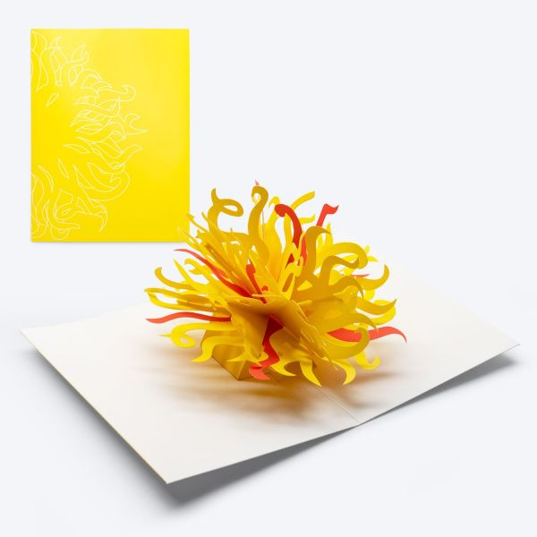 Chihuly Pop-up Card—Sun