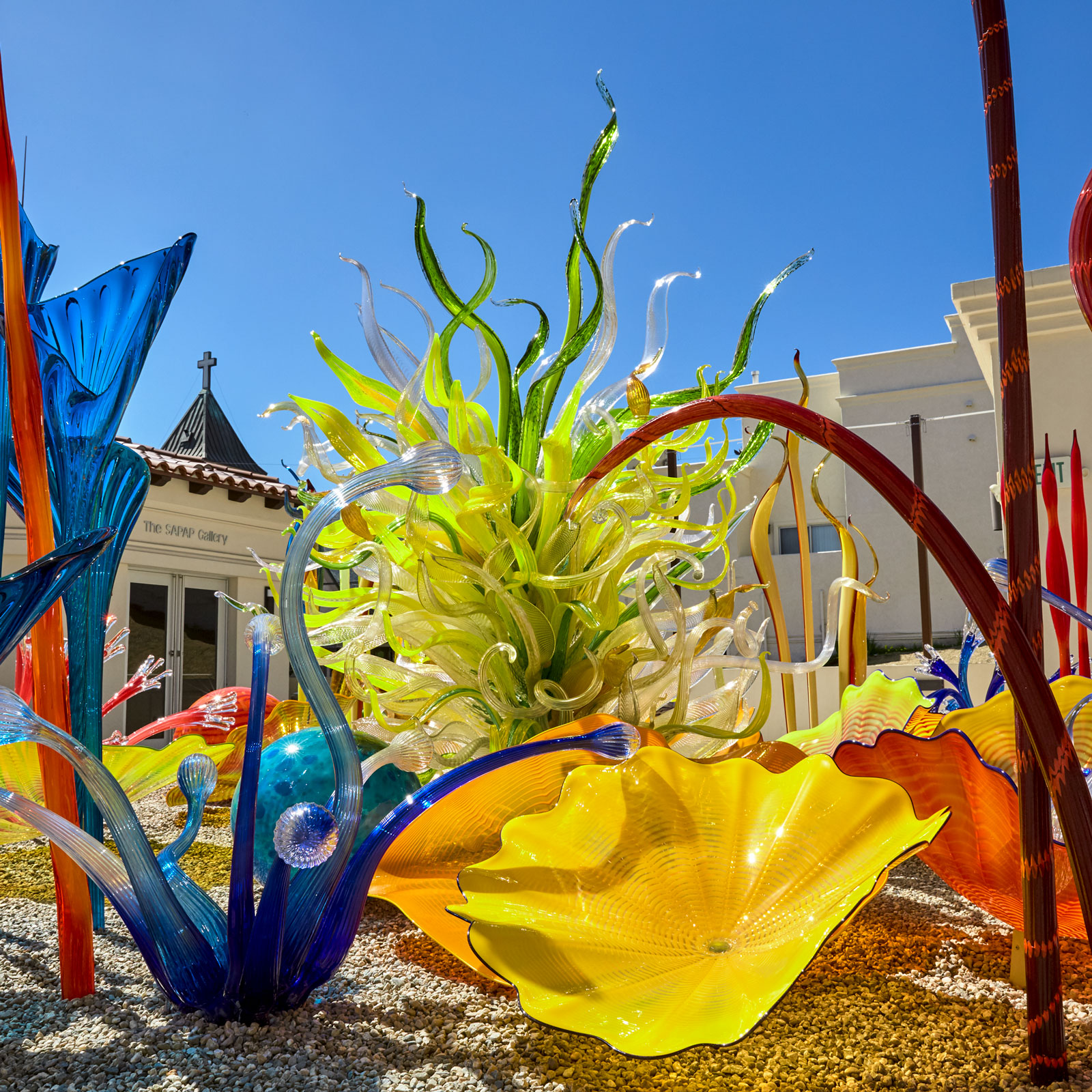 Glass art installation at the Cataline Island Museum by  Chihuly
